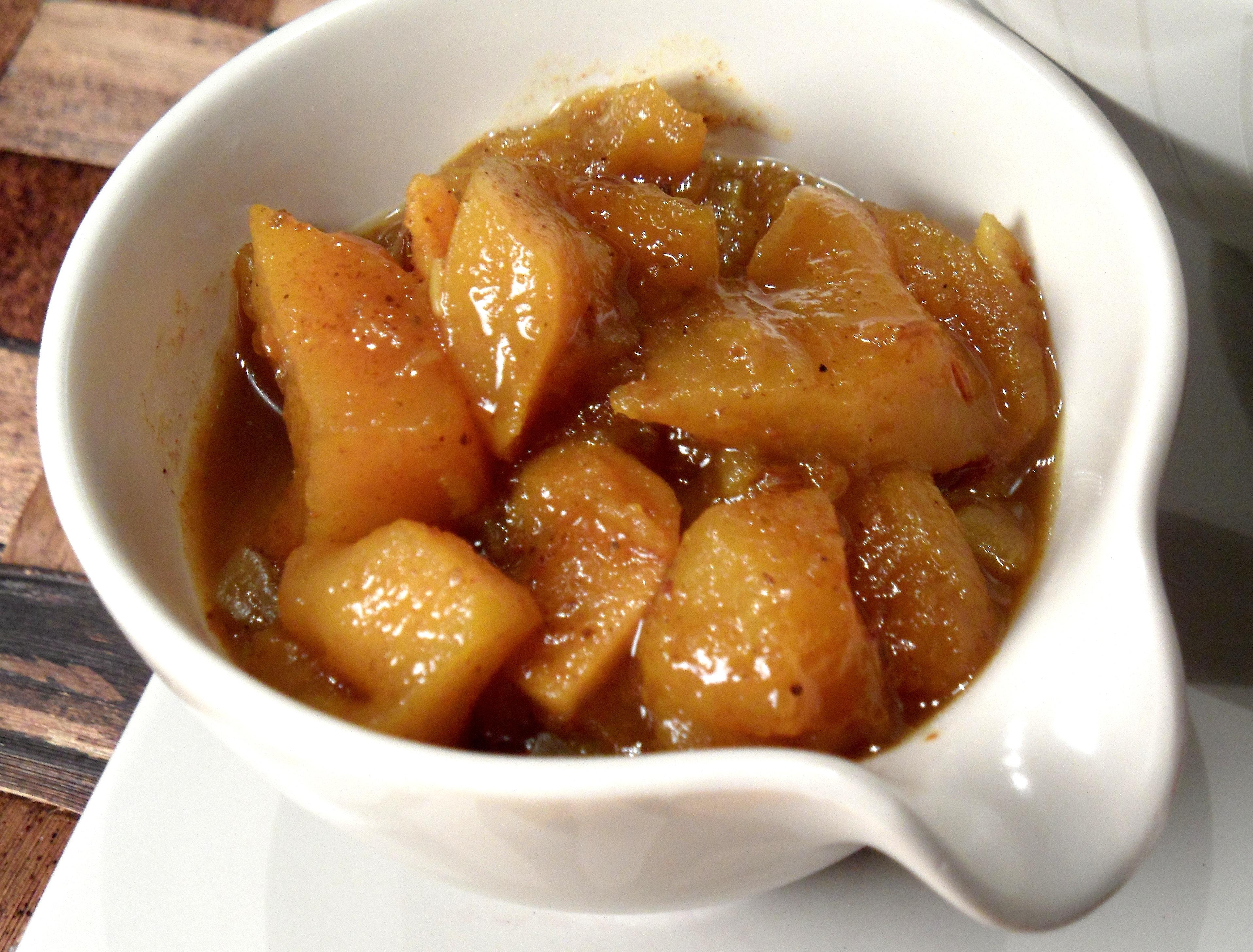Curry Eggplant Croquettes With Mango Chutney