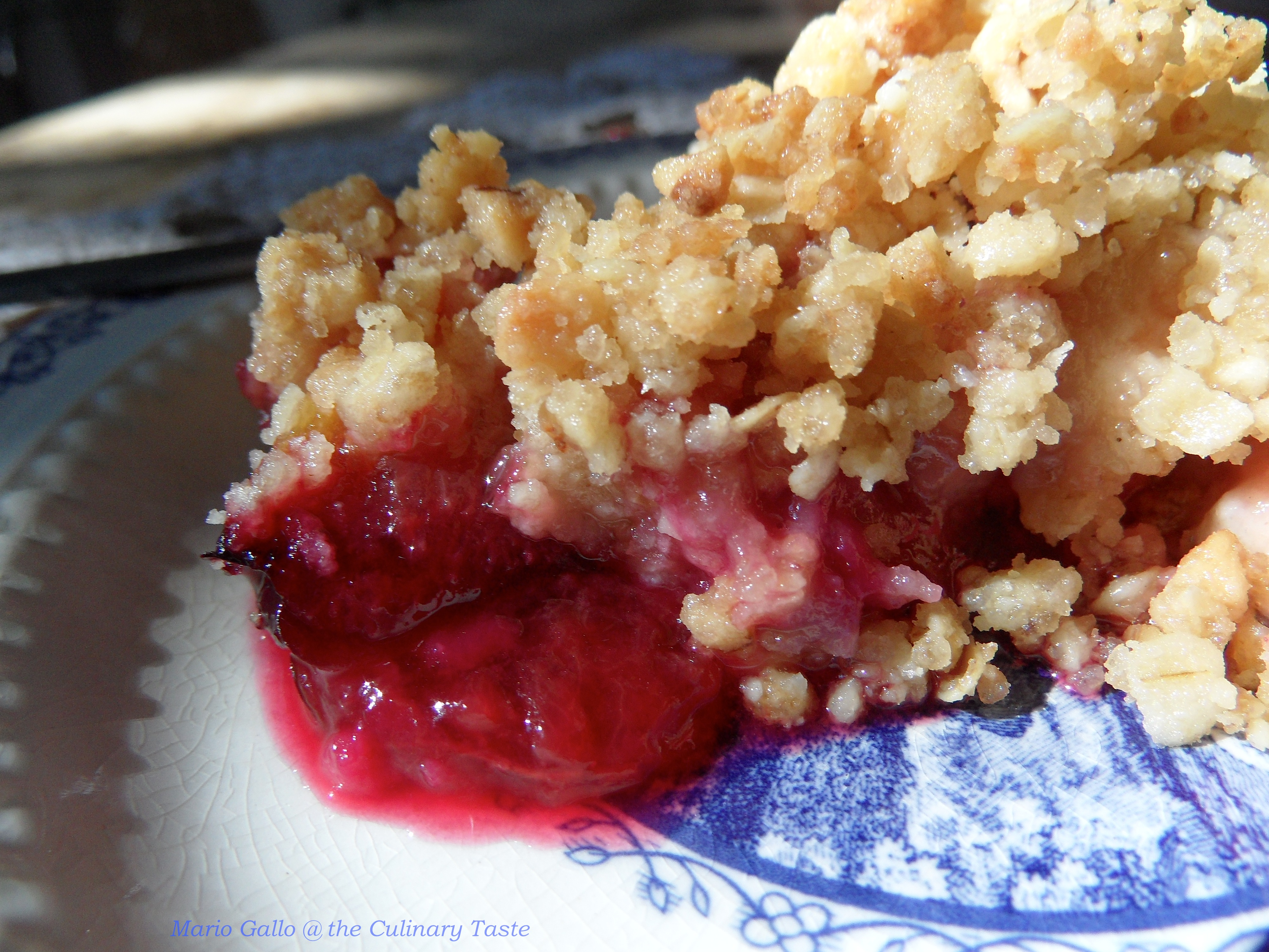 Apple And Plum Crumble Cake